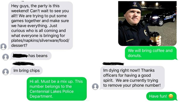 Centennial Lakes Police accidentally invited to party