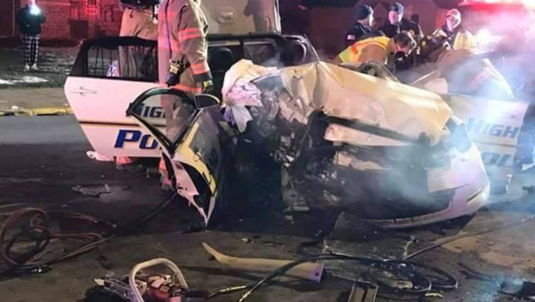 d3f5ea75-Highland Indiana Police Officer John Swisher was seriously injured in this head-on crash