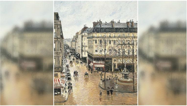 d574785d-Rue St.-Honore, Apres-Midi, Effet de Pluie by Camille Pissarro