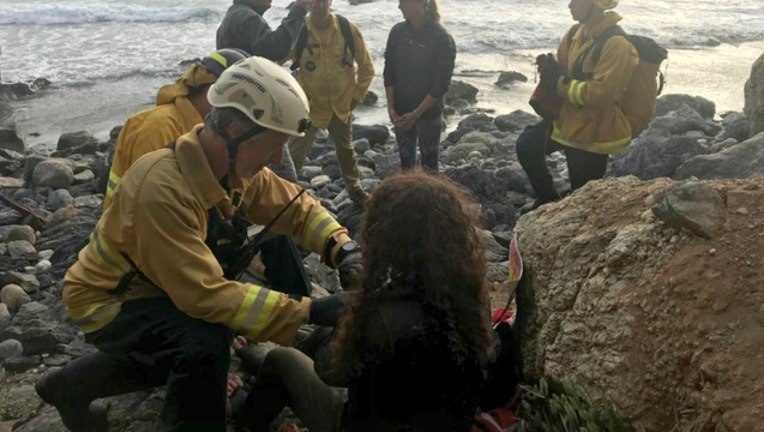 Woman off cliff (picture courtesy Monterey County Sheriff)