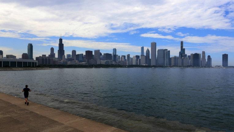 chicago lake skyline