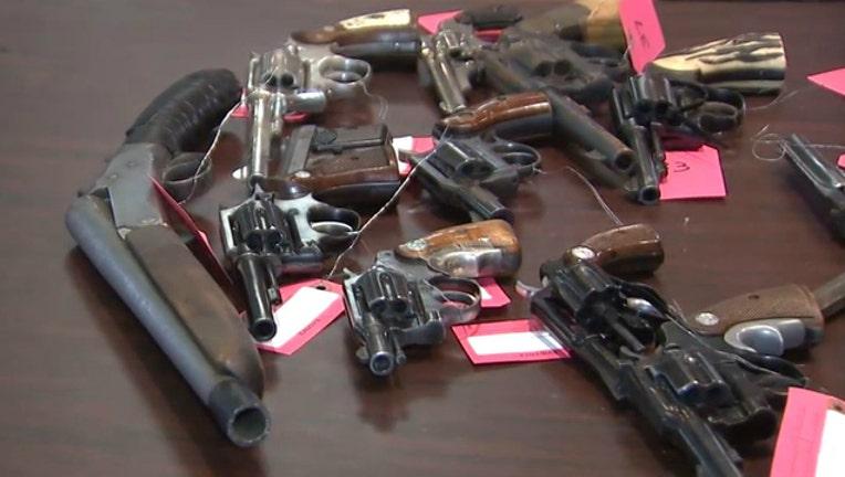f3bc4904-Guns turned in at a buy back at St. Sabina Church in Chicago