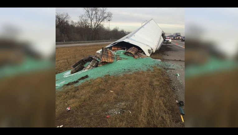fc386f5d-Truckers loses his marbles near Indianapolis (Photo courtesy Indiana State Police)