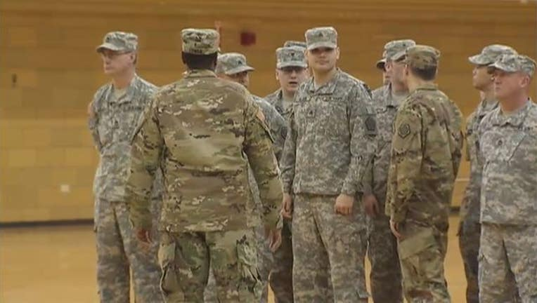 Illinois National Guard troops deploying to Kuwait