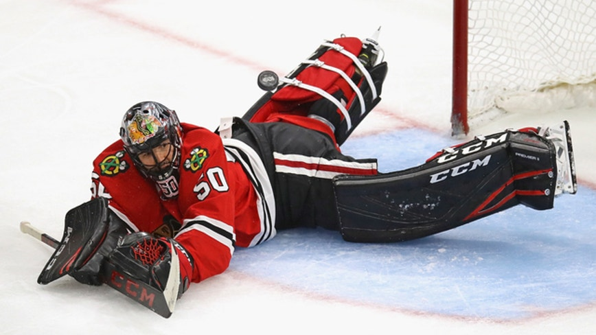 No Corey Crawford as Chicago Blackhawks begin practicing again