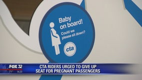 CTA riders urged to give up seat for pregnant passengers
