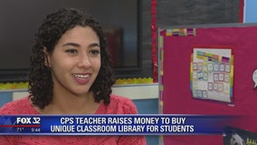 Chicago teacher raises money to buy unique classroom library for students