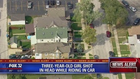 Girl, 3, shot in head in Chicago Heights
