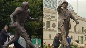 Bears unveil statues of Walter Payton, George Halas at Soldier Field