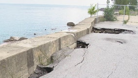 Barriers going in to reduce lakefront flooding