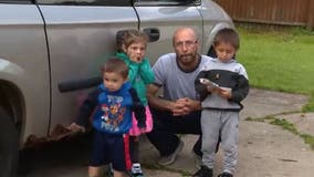 'God bless you guys': Homeless father of 5 gets outpouring of support