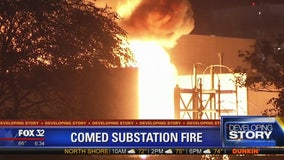 ComEd substation catches fire in Goose Island