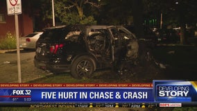 Stolen SUV crashed in Chicago Lawn, 5 injured