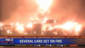 Roseland fire damages 6 vehicles