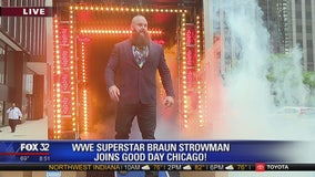WWE superstar Braun Strowman makes grand entrance on Good Day Chicago
