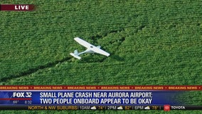 Small plane crashes near Aurora airport