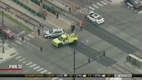 2 injured in vehicle crash on Metra Electric tracks in South Shore