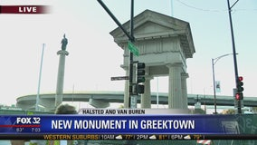 Lanes to close on Van Buren Street Wednesday for Greektown monument construction