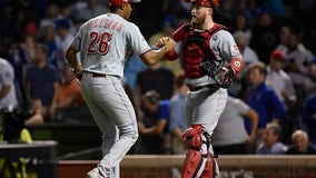 Iglesias' double in 10th leads Reds past Cubs 3-2