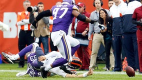 Bears beat Vikings 16-6, Trubisky out with injury