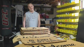 Indiana man with Down syndrome overcomes obstacles, creates doormat business