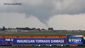 Weather service confirms tornado caused damage near Chicago
