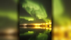 Northern Lights illuminate sky over Finland
