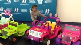 Jeep donates 6 mini Wranglers to Children's Hospital