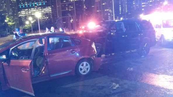 5 injured in crash on Lake Shore Drive near Maggie Daley Park