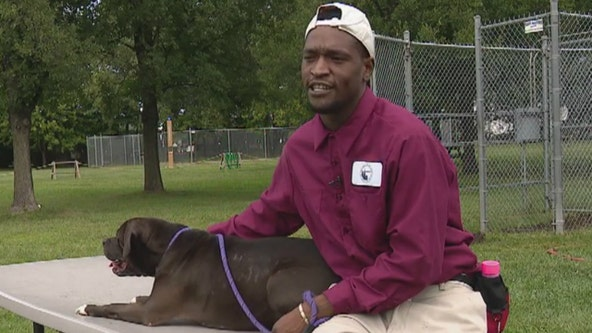 Ex-cons and crime victims working with dogs at Animal Care and Control