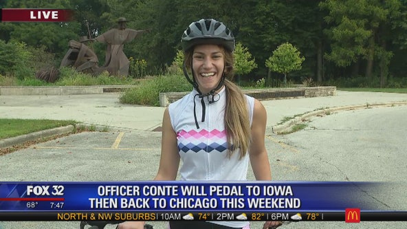 Chicago police officer to bike 300 miles to bring awareness to opioid crisis