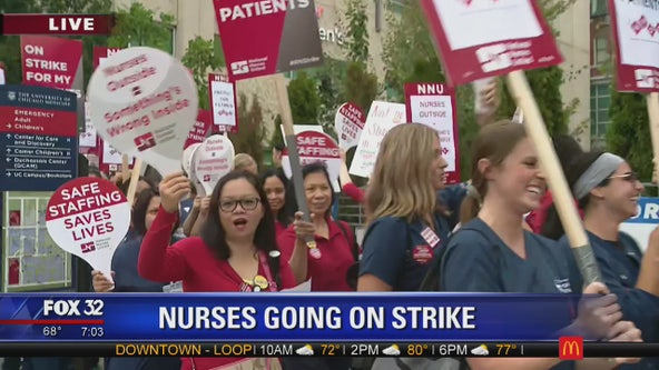 Nurses hold 1-day strike at University of Chicago hospital