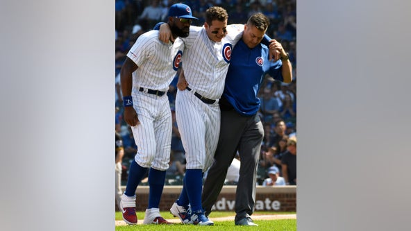 Cubs' Anthony Rizzo exits Pirates game with sprained right ankle