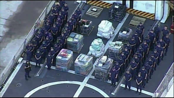 Coast Guard offloads over 12,000 pounds of cocaine in Florida