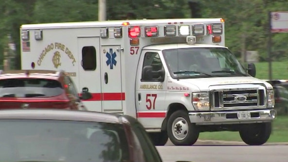 Paramedic hurt when car crashes into parked ambulance in Ashburn with patient inside
