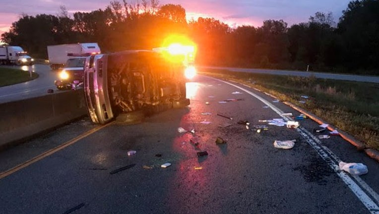 Woman killed in rollover crash on Indiana Toll Road ramp in