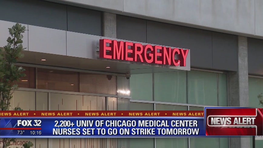 Hundreds of nurses expected to strike at University of Chicago Medical Center as negotiation talks break down