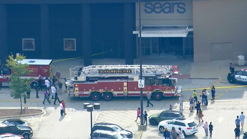 Massive police response after SUV drives through Woodfield Mall; suspect in custody