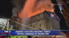 Overnight fire destroys historic Masonic temple in Aurora
