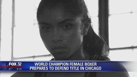 World champion female boxer prepares to defend title in Chicago