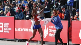 Kenya's Brigid Kosgei sets world marathon record in Chicago