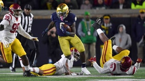 No. 9 Irish ride Jones' 176 yards to 30-27 victory over USC