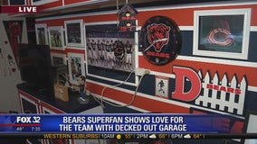 Bears superfan shows love for the team with decked out garage
