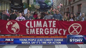 Young people lead climate change march in Chicago, say it's time for action