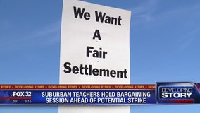 Suburban teachers hold bargaining session ahead of potential strike