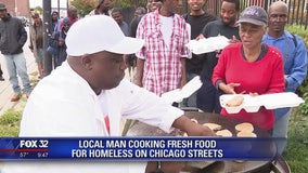 Local man cooks fresh food for homeless on Chicago streets