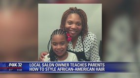 Oak Park salon owners teach adoptive parents how to style African-American hair
