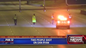 Two people shot on Dan Ryan