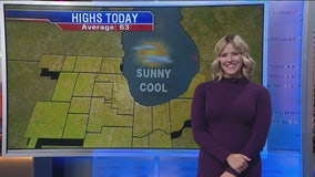 10 a.m. forecast for Chicagoland on October 14th