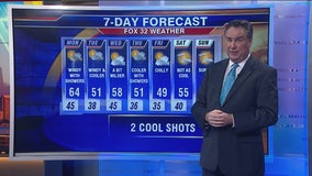 10 a.m. forecast for Chicagoland on October 21